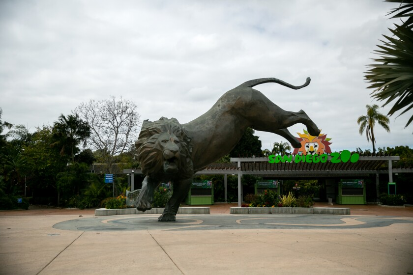 Entrance of San Diego zoo
