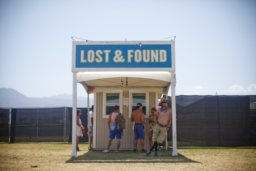 Coachella Lost and Found does brisk business