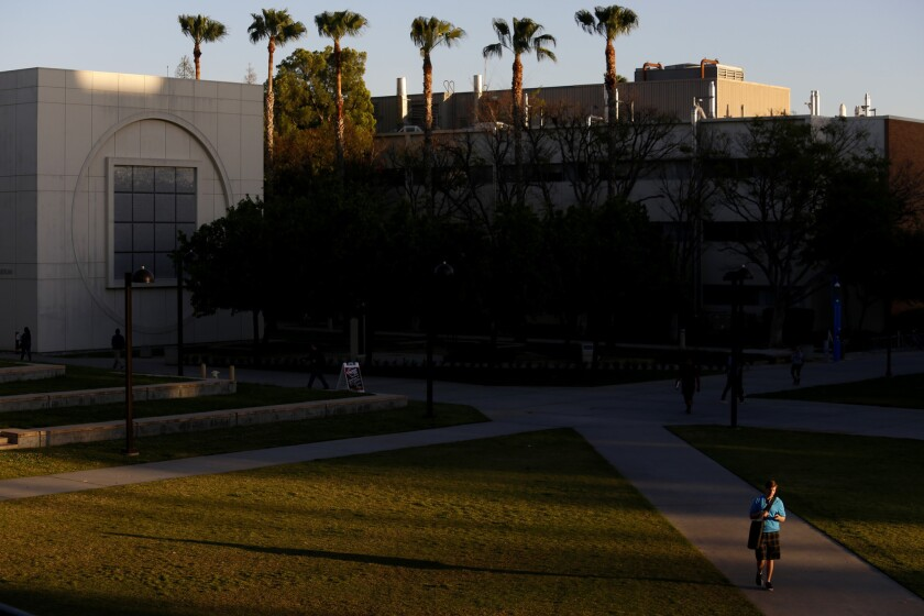 Thirteen Cal State Northridge students are self-isolating amid concerns they may have been exposed to the coronavirus, officials say.