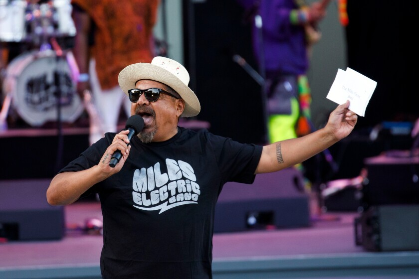 A photo of George Lopez at The 2018 Playboy Jazz Festival in Hollywood
