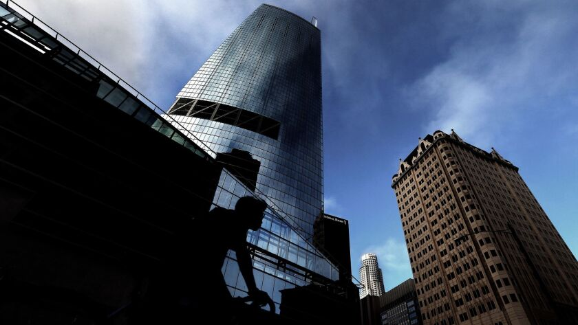 The owners of the Wilshire Grand, a recently completed skyscraper in downtown L.A., are asking about $4.25 a square foot per month for office space.