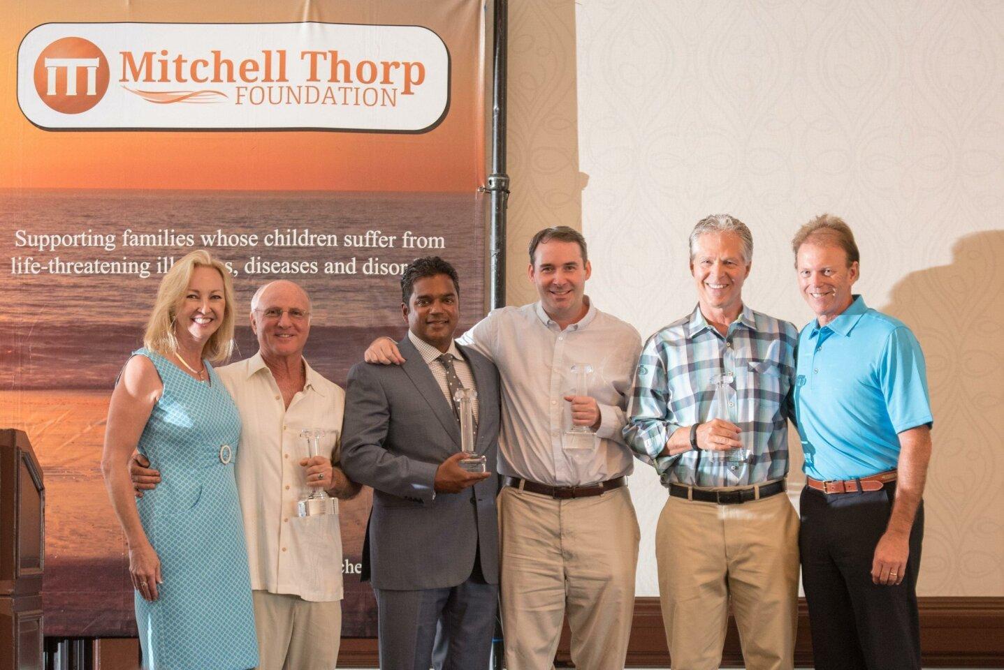 Pillars of Hope Honorees: Beth Thorp, Dr. Glenn Frieder, Dr. Sanjay Ghosh, Dr. John Crawford, Gordon Merkle and Brad Thorp