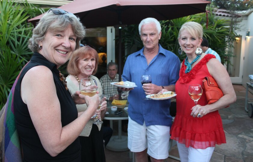ania Plater, marlene matheson, michael Whitney and Lori Barber were on the invite list for this year's Taco Tuesday events, hoted by La Jolla Shores residents Bob and Kim Whitney. Pat Sherman photos