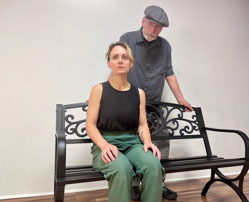 """San Diego movement artist Jerry Hager and his daughter, Valerie Hager-Slavin star in """"The Bench"""""""