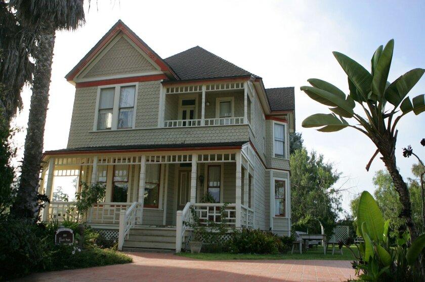 Corinne McCall's historic home is on Second Avenue in west Chula Vista. (David Brooks / Union-Tribune)