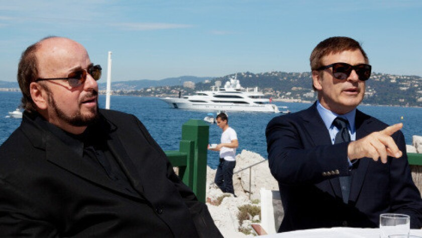 "Alec Baldwin, right, and James Toback ruminate on the state of filmmaking in ""Seduced and Abandoned,"" which will premiere at this year's Cannes Film Festival."