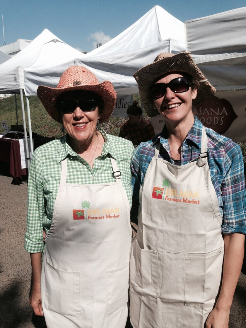 Former Del Mar Farmers Market Manager Rita Meier and Ana Nieto. Nieto started Feb. 7 as the market's new manager.
