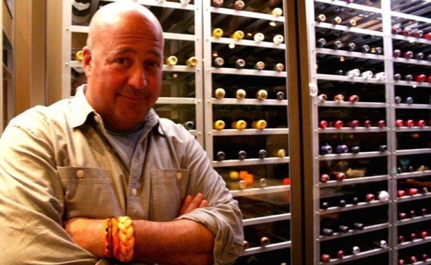 Andrew Zimmern at George's California Modern in La Jolla.