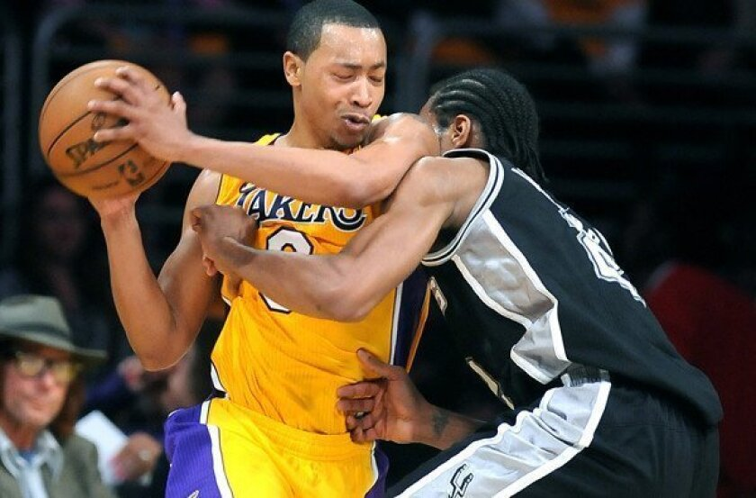 Andrew Goudelock joined the Lakers with just two games left in the regular season, but became a playoff starter when L.A. lost Steve Blake and Jodie Meeks to injury.