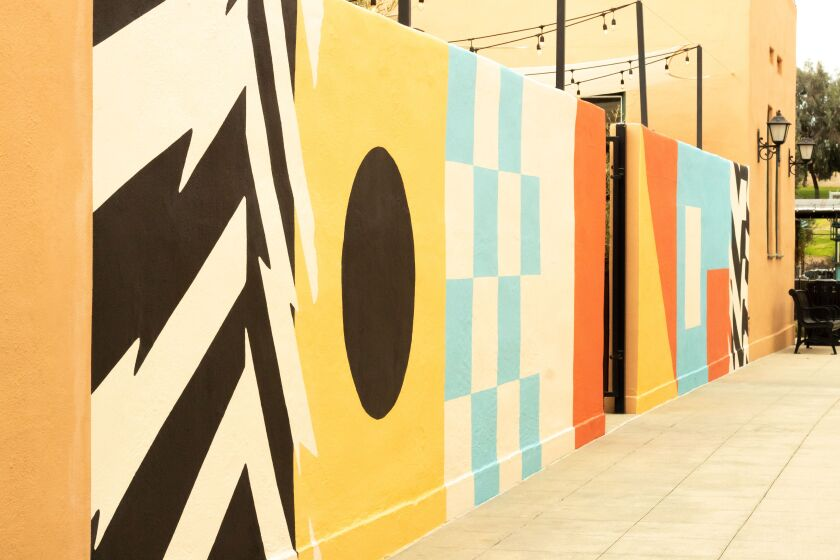 "Artist James Armenta's untitled mural is the latest addition to ""Installations at the Station"" at Liberty Station."