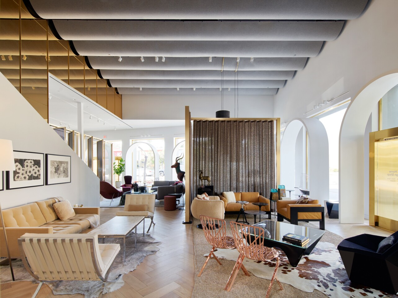 The new 4,000-square-foot Knoll showroom opened Jan. 16 in West Hollywood.