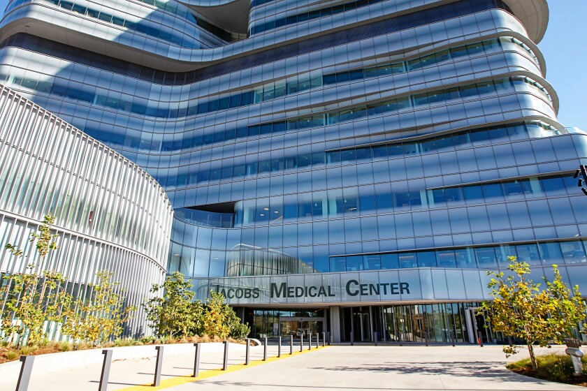 The Jacobs Medical Center in San Diego, California.