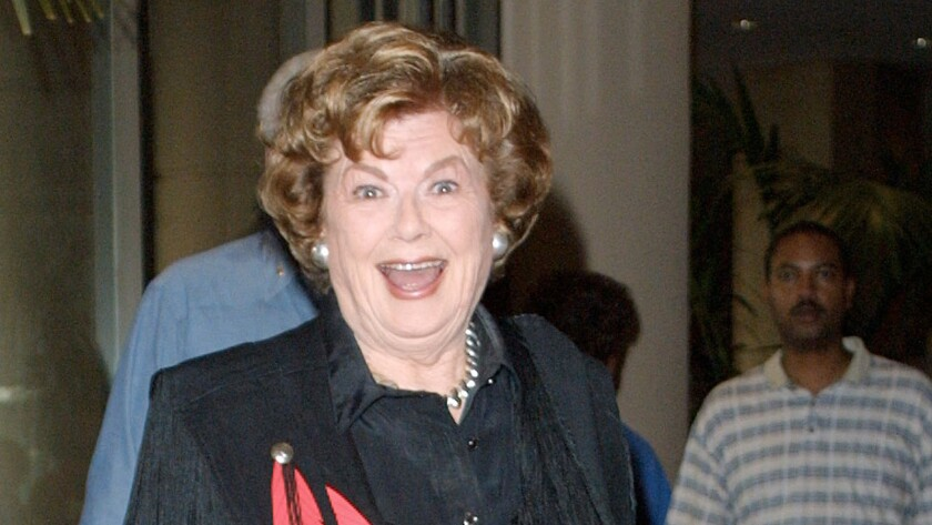 Barbara Hale, best known for her Emmy Award-winning role as Perry Mason's loyal secretary Della Street on the 1950s and '60s TV series starring Raymond Burr as the crime-solving defense attorney, has died at 94. Pictured: Hale arrives at the 19th Golden Boot Awards on Aug. 11, 2001 in Beverly Hills.