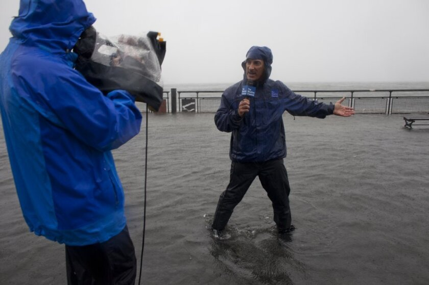 The Weather Channel's Jim Cantore in action.