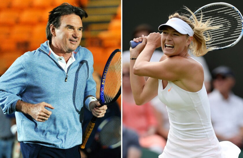 Jimmy Connors worked with Maria Sharapova in 2008 before she won the Australian Open.