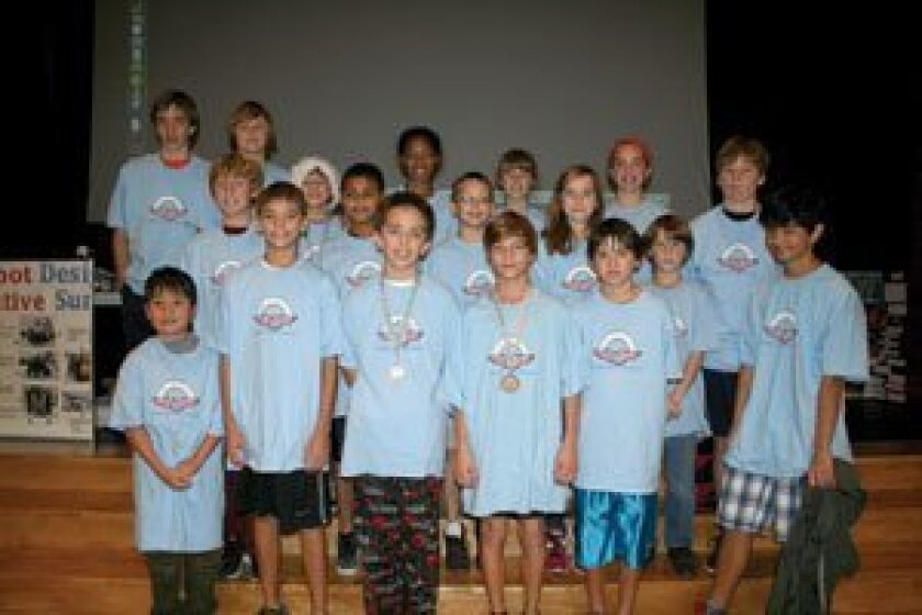 This year's R. Roger Rowe robotics teams. Photo/Karen Billing