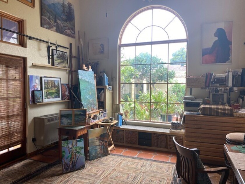 Dot Renshaw's home art studio in Pacific Beach will be featured in the San Diego Coastal Art Studios Tour Sept. 18.