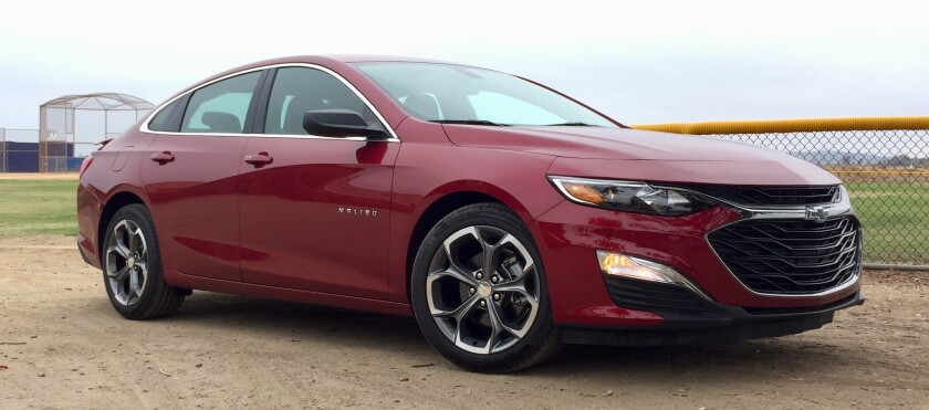 The Malibu RS tester was $25,740 with options for the gorgeous Cajun Red tintcoat paint and the convenience package, $350, which adds a remote-start capability and a trunk cargo net.