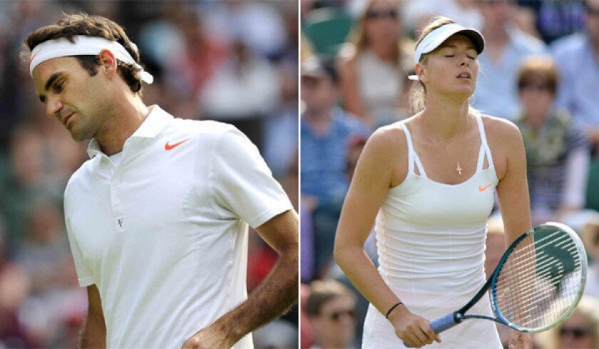 Both Roger Federer and Maria Sharapova were eliminated at Wimbledon far sooner than many had expected.