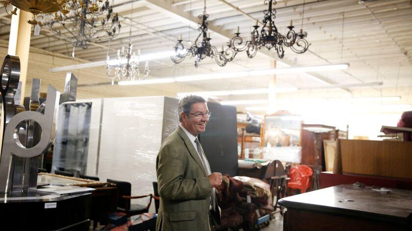 LOS ANGELES, CA-JUNE 25, 2019: Andrew Jones, founder of Los Angeles' newest auction house, walks thr