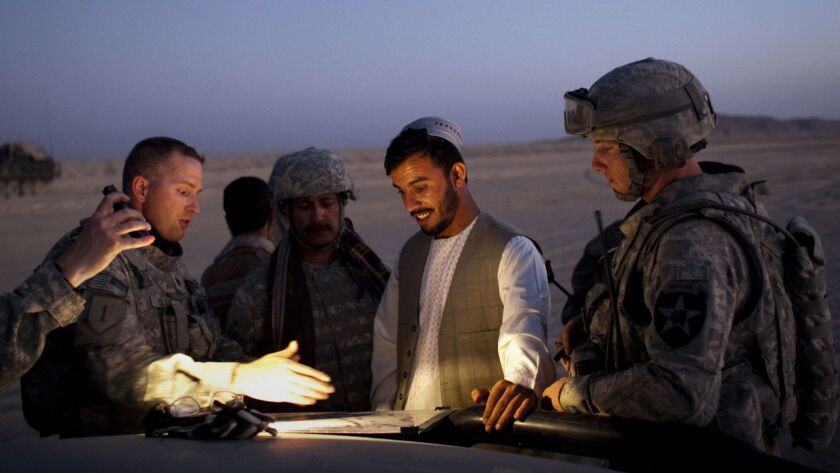 Gen. Abdul Raziq, the border police commander for southern Afghanistan, during a joint patrol along