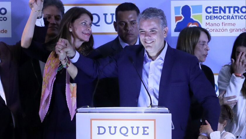 Ivan Duque wins presidential primary election, Bogota, Colombia - 11 Mar 2018