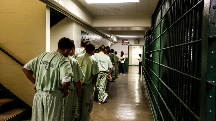 LOS ANGELES, CA--FEBRUARY 12, 2017: The ACLU of Southern California visit Men's Central Jail at 441