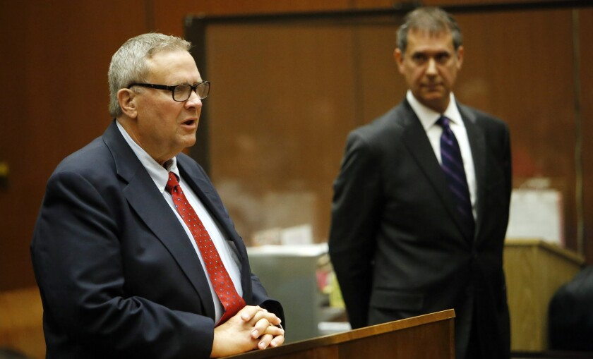 Former Bell Mayor George Cole, left, in court Wednesday.