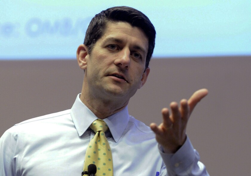Rep. Paul Ryan (R-Wis.) answers constituents' questions this month in Kenosha, Wis.