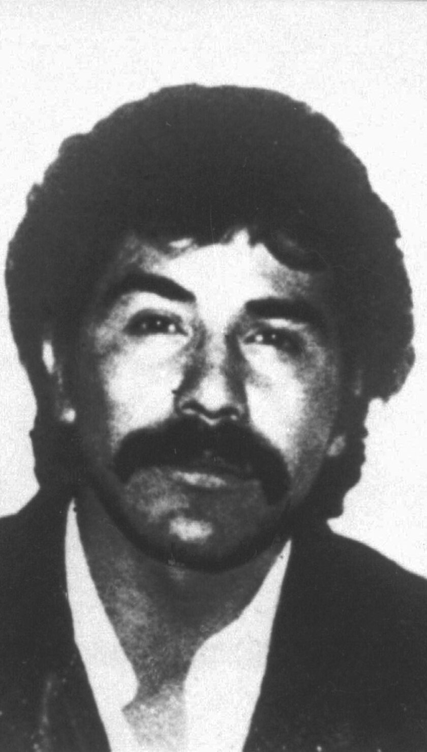 CORRECTS DATE OF ANNOUNCEMENT - FILE - This undated file photo provided by Mexico's government shows drug lord Rafael Caro Quintero in an unknown location. Chihuahua Attorney General Jorge Gonzalez told reporters on Tuesday, July 5, 2016 that the old-guard drug lord mistakenly released in 2013 is a