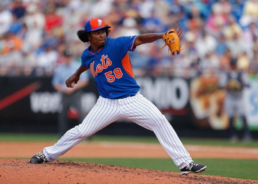 Jenrry Mejía, de los Mets de Nueva York.