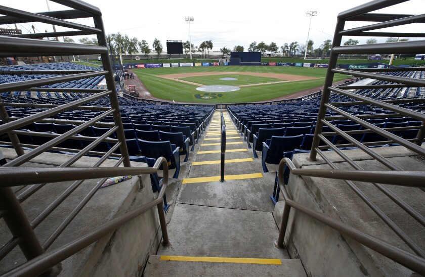 General view of American Family Fields stadium, spring training home of the Milwaukee Brewers.