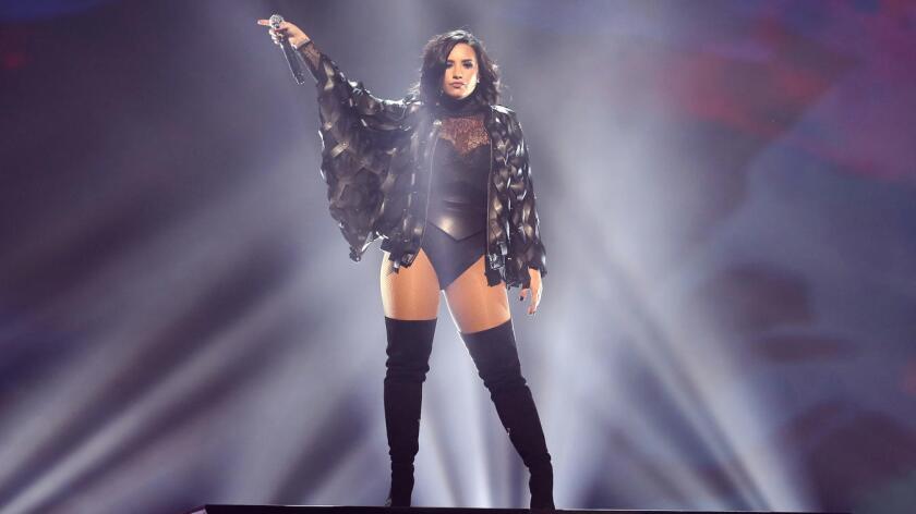 Demi Lovato se presentó en el TD Garden de Boston en Julio pasado.