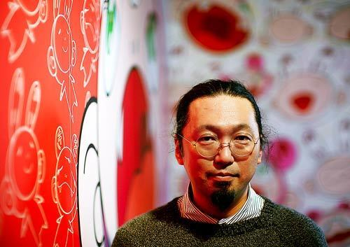 """Artist Takashi Murakami at his exhibition """"© Murakami,"""" which opens Oct. 29 at the Geffen Contemporary at MOCA in downtown Los Angeles."""