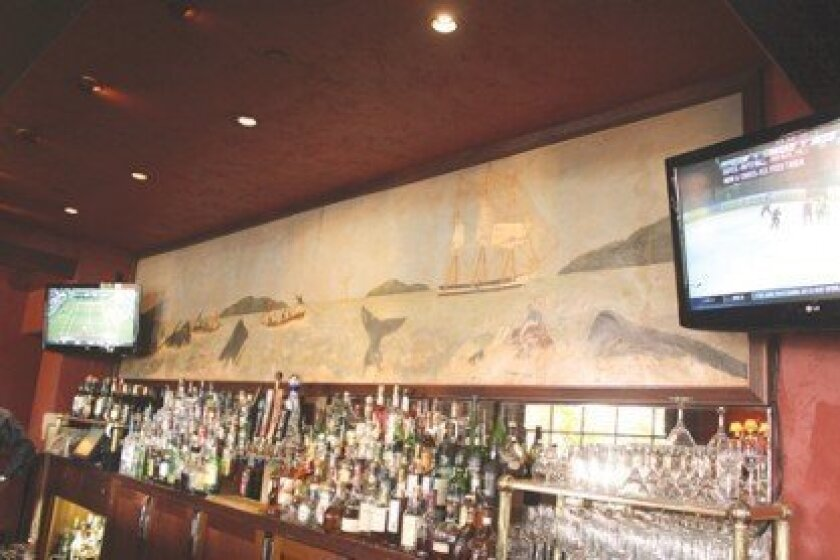 A Remodel: The Whaling Bar is closed to make room for Cafe La Rue at La Valencia hotel.