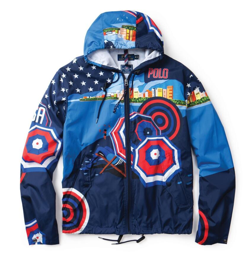 The Team USA hooded windbreaker.