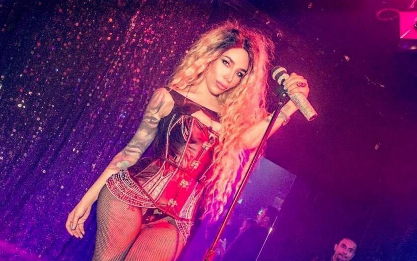 A performer at Club Cobra.