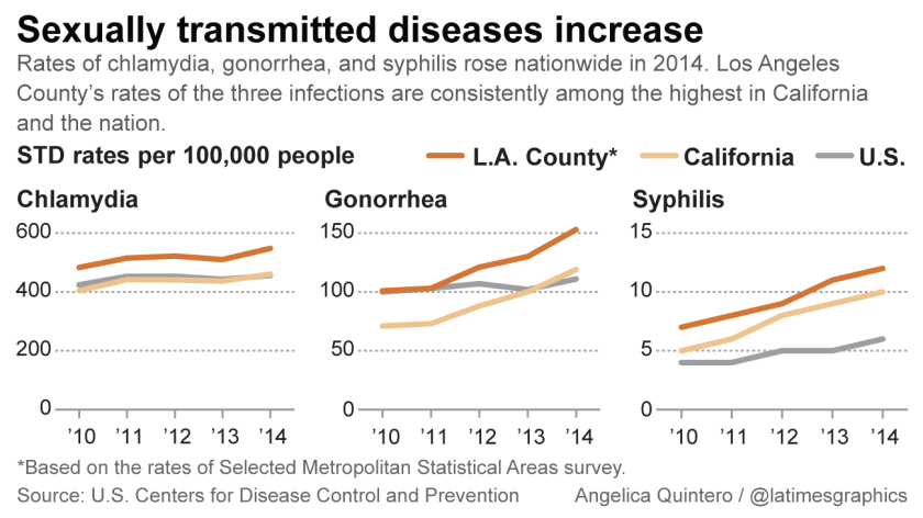 Sexually transmitted diseases increase