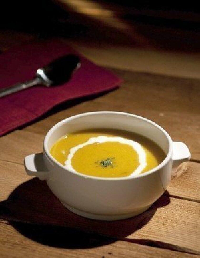 Quick orange lentil soup.