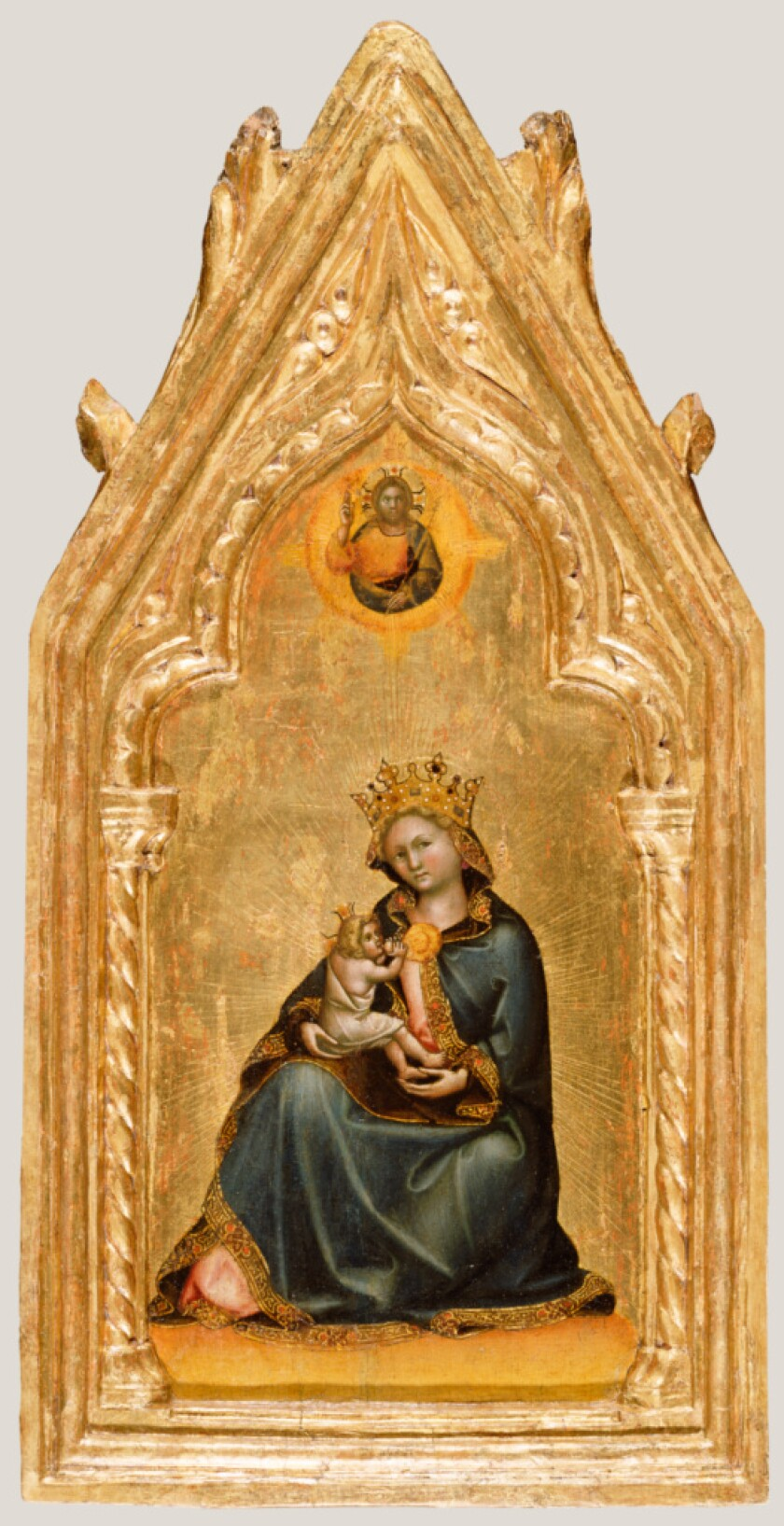 "Guariento di Arpo, ""Madonna of Humility,"" about 1345–1350, tempera and gold leaf on panel."