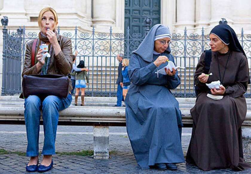 """The the movie """"Eat Pray Love"""" has us wondering about the life of a travel writer. Not to mention -- where can one snag a decent scoop of gelato."""