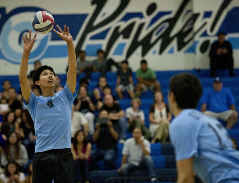 Otay Ranch senior Adrian Ventura finds it was worth the wait in becoming the Mustangs setter.