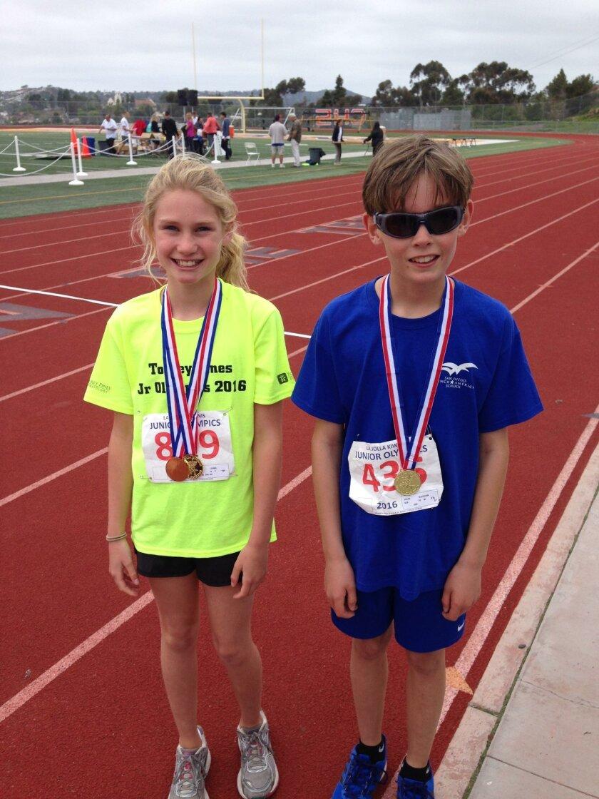 Kiwanis Club's Junior Olympics find Capri Lewis and John Guckian to be 'The Fastest Kids in La Jolla.'