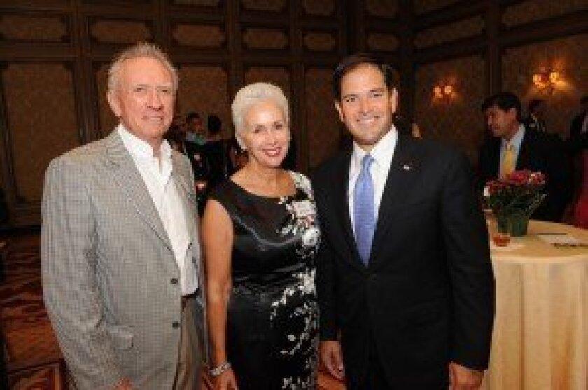 Hudson and Mary Drake, Sen. Marco Rubio. Photo/Jon Clark
