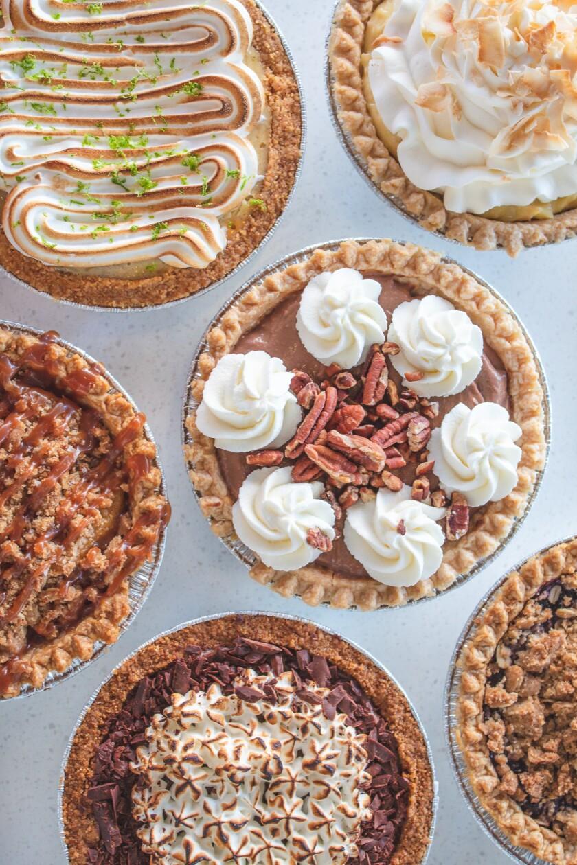 A variety of pies at Pacific Social