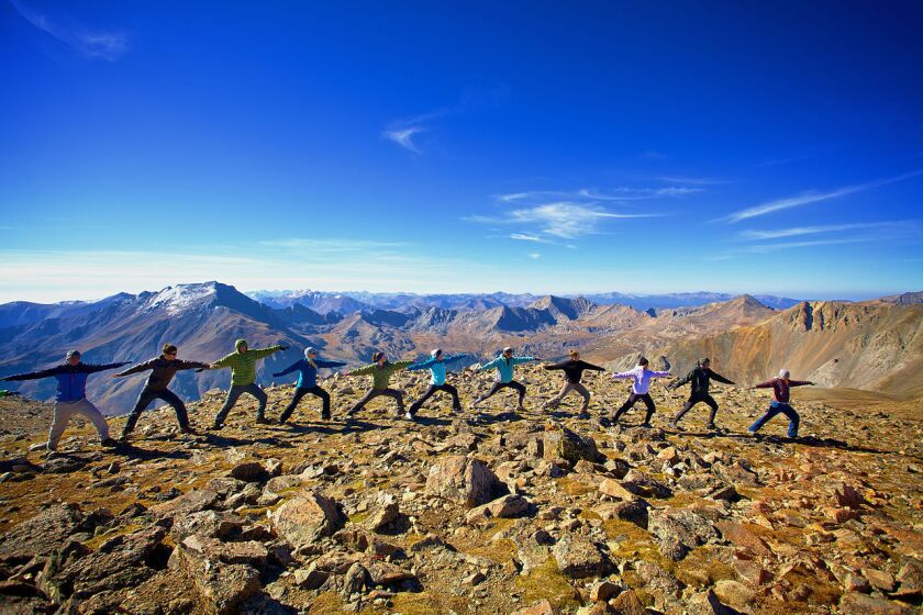 Yoga lovers are everywhere -- even atop 14,160-foot Mt. Oxford in the Rocky Mountains of Colorado.