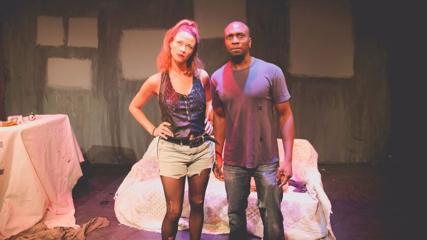(Left to Right): Scottie Thompson and Ade M'Cormack shown from a production still of The Dreamer Ex