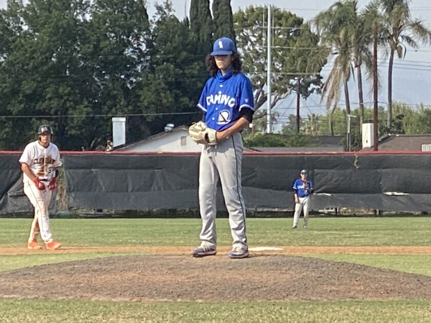 El Camino Real sophomore pitcher Tyler Sileo picked up win on Wednesday in City semifinals.