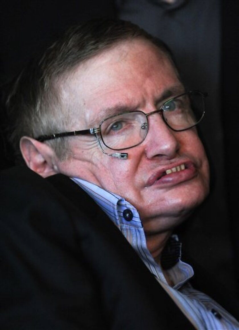 British physicist Stephen Hawking attends the 2010 World Science Festival opening night gala performance at Alice Tully Hall on Wednesday, June 2, 2010 in New York. (AP Photo/Evan Agostini)