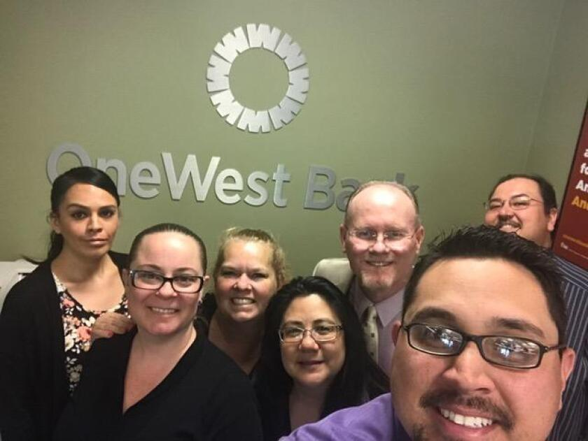 The crew at La Jolla's One West Bank includes Anna, Senia, Mary, Elly, Jeff, Carl (taking picture) and Jason. OneWest Bank, 888 Prospect St., Suite 140, La Jolla. (858) 454-8800. onewestbank.com